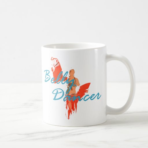 Bailarín de la fan taza de café
