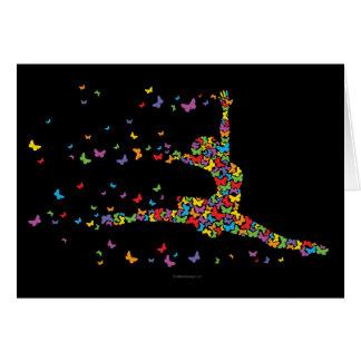 Bailarín de la mariposa tarjeta de felicitación