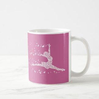 Bailarín de la mariposa taza de café