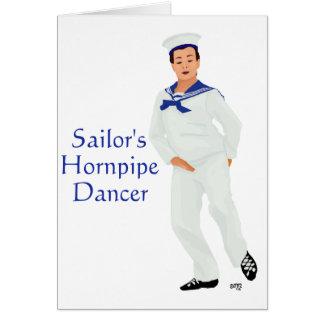 Bailarín de la montaña de Hornpipe de los marinero Tarjeta De Felicitación