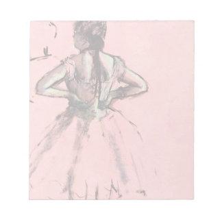 Bailarín de la parte posterior por ballet del blocs de papel