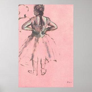 Bailarín de la parte posterior por ballet del póster