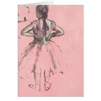 Bailarín de la parte posterior por ballet del tarjeta de felicitación