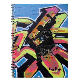 Bailarín de la pintada de Hip Hop personalizado Libreta