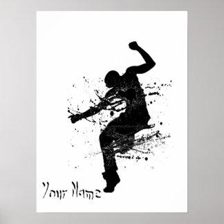 Bailarín de la pintada de Hip Hop personalizado Póster