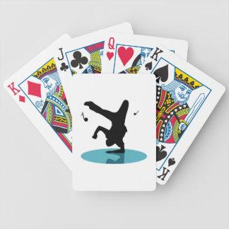 Bailarín de la rotura baraja cartas de poker