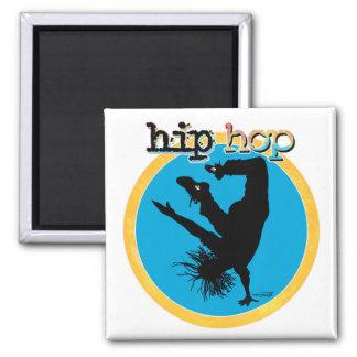 Bailarín de la rotura de HIP HOP Imán Cuadrado