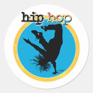 Bailarín de la rotura de HIP HOP Pegatina Redonda