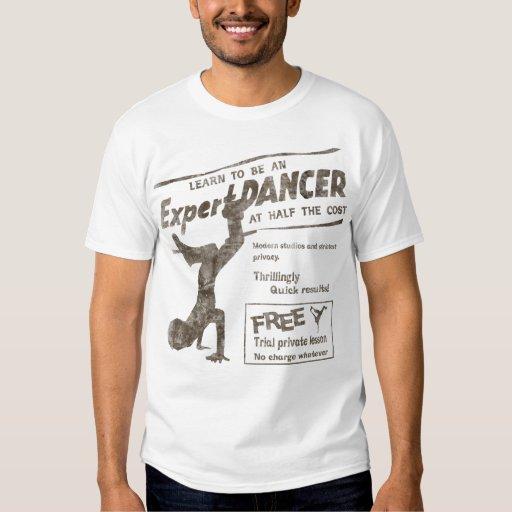 Bailarín de la rotura del vintage playera