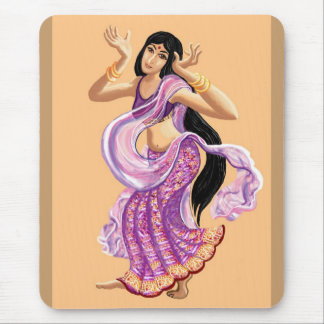 Bailarín de la sari alfombrilla de ratón