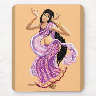 Bailarín de la sari tapete de ratones