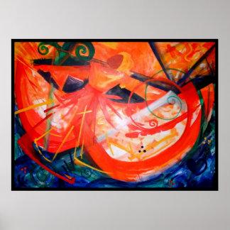 Bailarín de la tormenta - arte haitiano - arte neg impresiones