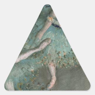 Bailarín de ocsilación - Edgar Degas Pegatina Triangular