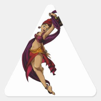 Bailarín de Rohesia Pegatina Triangular