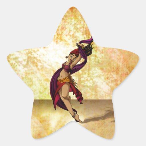Bailarín de Rohesia Pegatina En Forma De Estrella