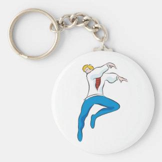 Bailarín de sexo masculino llaveros personalizados