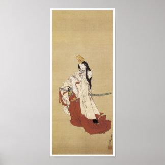 Bailarín de Shirabyoshi, Hokusai, 1820 Póster