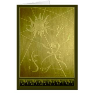 Bailarín de Sun Tarjeta