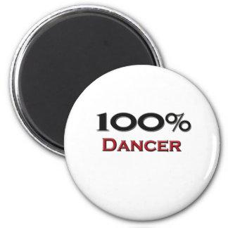 Bailarín del 100 por ciento imán redondo 5 cm