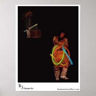 Bailarín del aro del nativo americano póster