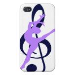 Bailarín del arte moderno de la música iPhone 4 fundas