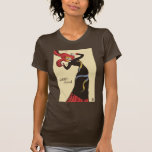 Bailarín del cabaret por la camiseta de Toulouse-L