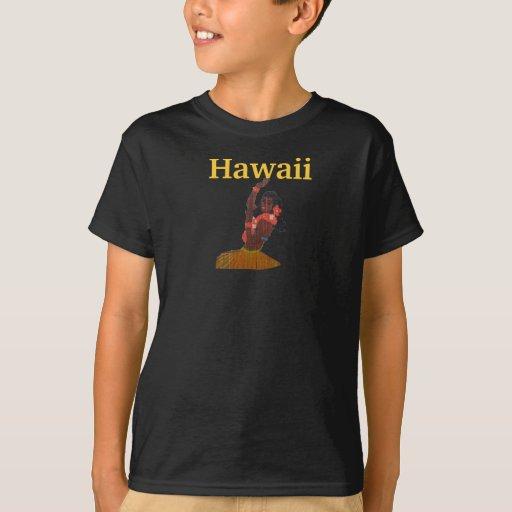 Bailarín del chica de Hawaii Hula Remeras
