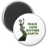 Bailarín del Día de la Tierra Imán Para Frigorífico