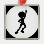 Bailarín del disco ornamento para arbol de navidad