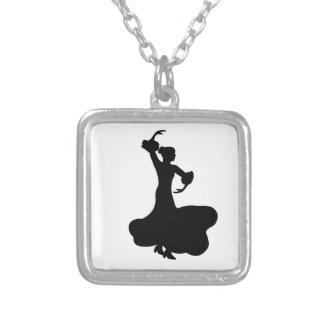Bailarín del flamenco colgante cuadrado
