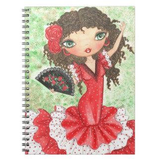 """""""Bailarín del flamenco con la fan """" Notebook"""