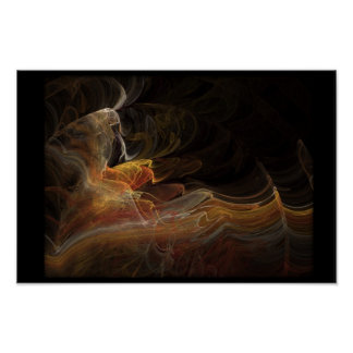 Bailarín del flamenco en fractal póster