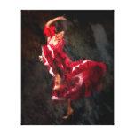 Bailarín del flamenco lona envuelta para galerias