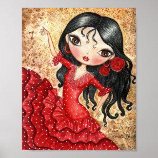 """Bailarín del flamenco "" Póster"