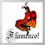 Bailarín del flamenco póster