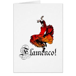 Bailarín del flamenco tarjeta de felicitación