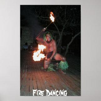 Bailarín del fuego de South Pacific Póster