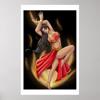 Bailarín del fuego póster