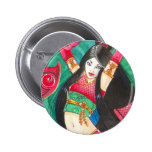 """Bailarín del geisha 2"""" botón, arte del dragón de B Pins"""
