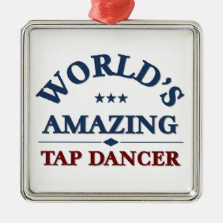 Bailarín del golpecito asombroso del mundo ornamentos de reyes magos