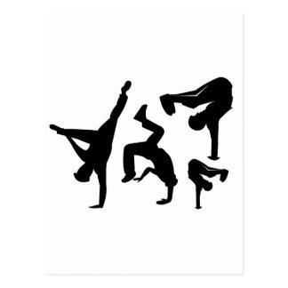 bailarín del hip-hop tarjeta postal
