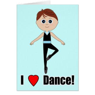 Bailarín del muchacho: Gracias por venir verme Tarjeta Pequeña