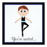 Bailarín del muchacho: Invitación del decreto de Invitación 13,3 Cm X 13,3cm