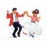 bailarín del oscilación con los zapatos de la fald postales