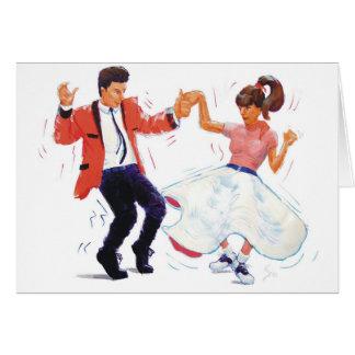 bailarín del oscilación con los zapatos de la tarjeta de felicitación
