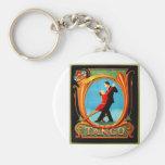 Bailarín del tango llavero redondo tipo pin