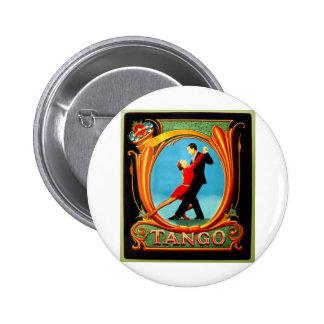 Bailarín del tango pin redondo de 2 pulgadas