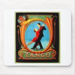 Bailarín del tango tapetes de raton