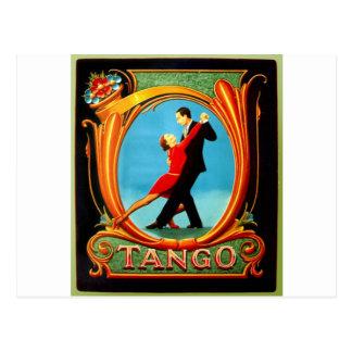Bailarín del tango tarjetas postales