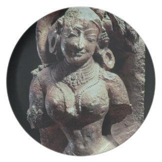 Bailarín, del templo de Sun de Kanara, indio, 13t Platos De Comidas